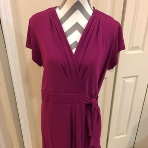 Ann Taylor Magenta wrap dress in 12